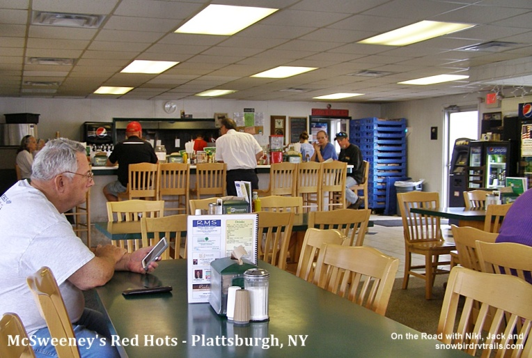 Inside McSweeneys Red Hots of Plattsburgh, NY