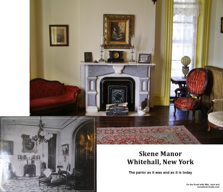 Then and now at Skene Manor built in 1874