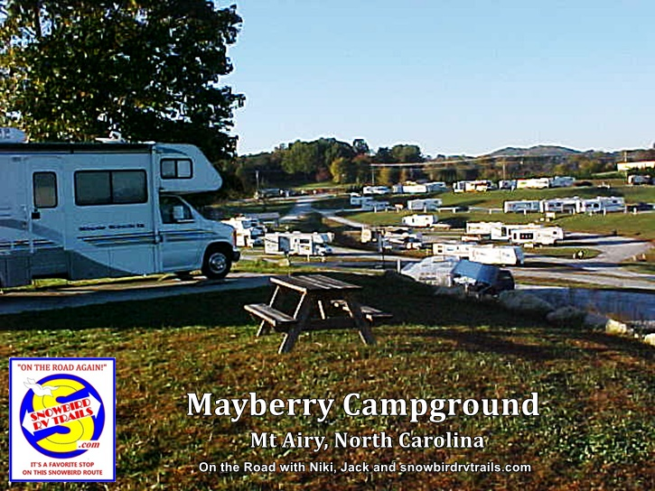 Mayberry Campground - stop #4 on our Best RV Route to Florida