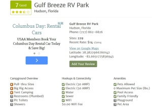 RV Park Reviews Example