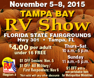 A great place to see new RV models Nov 5th - 8th, 2015