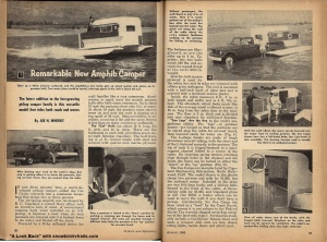 Amphib camper article August 1960