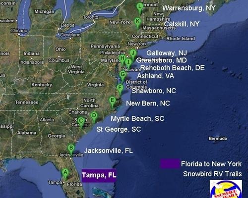 Florida Snowbirds Hop Aboard As We Visit New Places